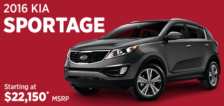 Click For 2016 Kia Sportage Model Information in Olympia, WA
