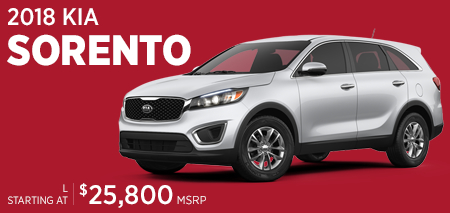 Click to research the 2018 Kia Sorento model at Hanson Kia in Olympia, WA