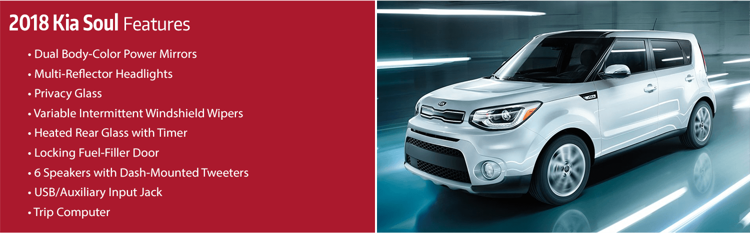 Review the new 2018 Kia Soul Features