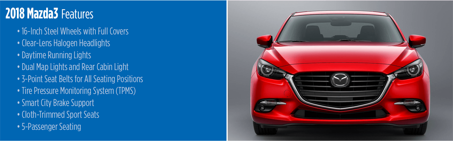 2018 Mazda3 Sedan and Hatchback | New Car Features & Specs