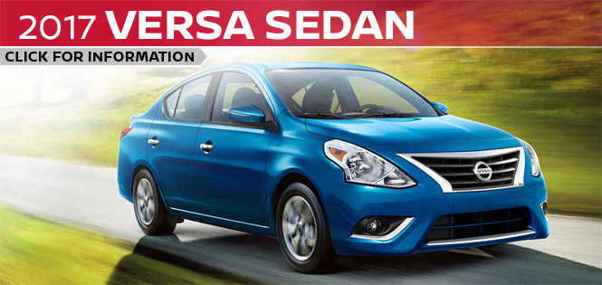 Click to learn more about the new 2017 Nissan Versa Sedan model