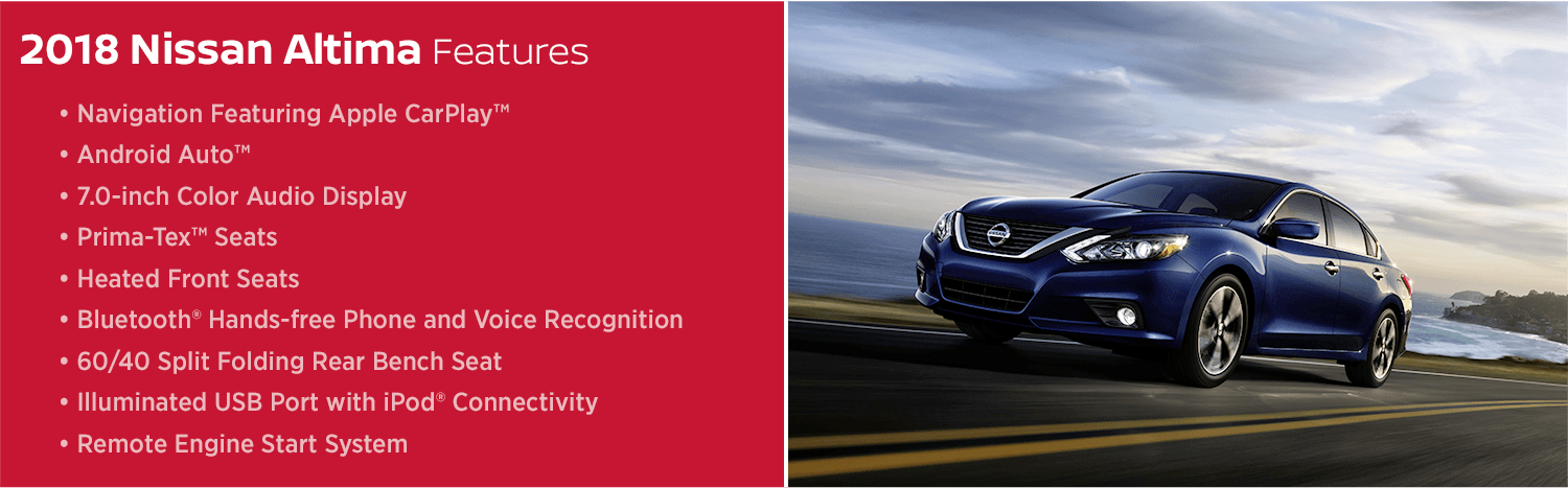 Learn about the 2018 Nissan Altima model features