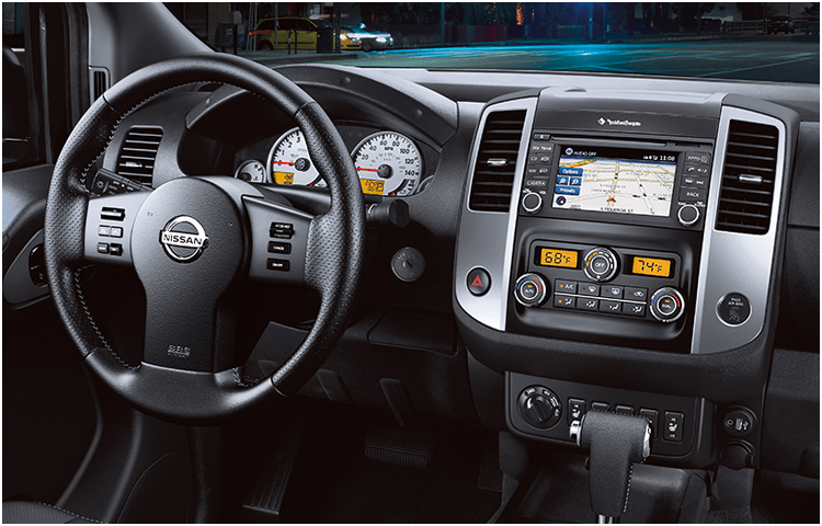 Research the 2018 Nissan Frontier midsize truck interior