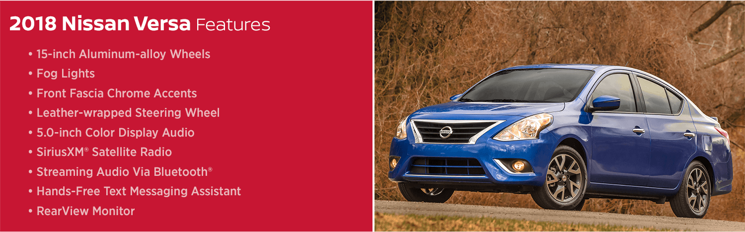 Review the New 2018 Nissan Versa Features