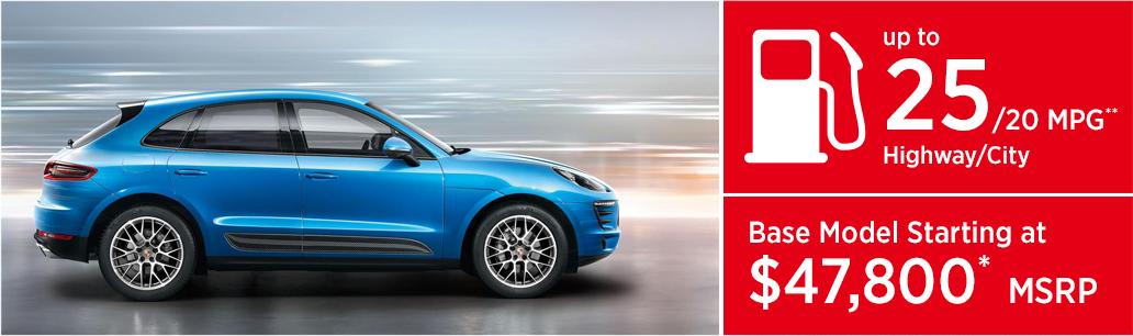 2017 Porsche Macan model MSRP & MPG