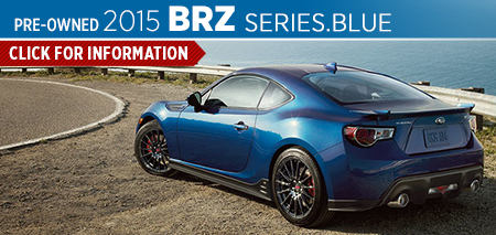 View the 2015 BRZ Series.Blue model Page Information