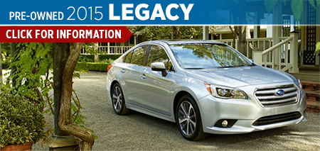 View details on the New 2015 Subaru Legacy at Nate Wade Subaru