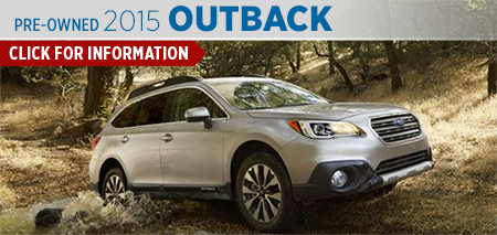 View details on the New 2015 Subaru Outback at Nate Wade Subaru