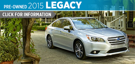 Click to View 2015 Subaru Legacy Model Information Mike Scarff Subaru