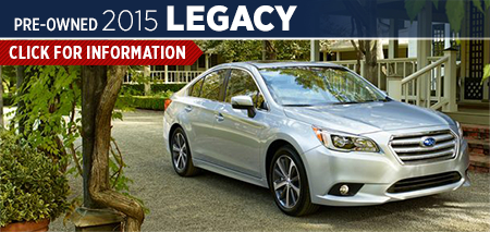 Click to View 2015 Subaru Legacy Model Information Carlsen Subaru