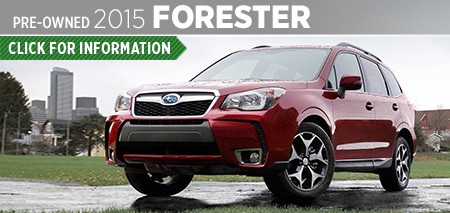 View details on the Certified Pre-Owned 2015 Subaru Forester at Carter Subaru Ballard in Seattle, WA