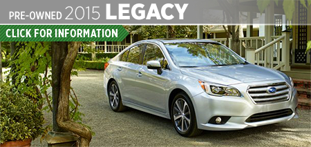 Click to View 2015 Subaru Legacy Model Information & Specifications in Seattle, WA