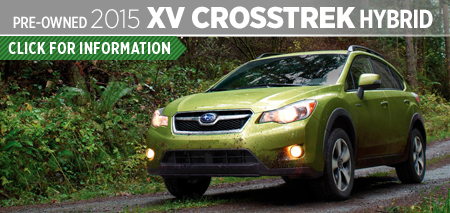 Click to View The 2015 Subaru XV Crosstrek Hybrid Model