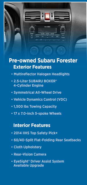 2015 Subaru Forester Features