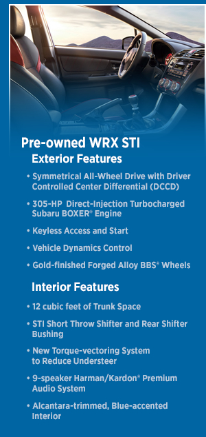 Check Out the 2015 Subaru WRX STI Interior and Exterior Features