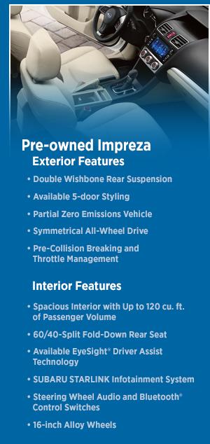 2015 Subaru Impreza Features