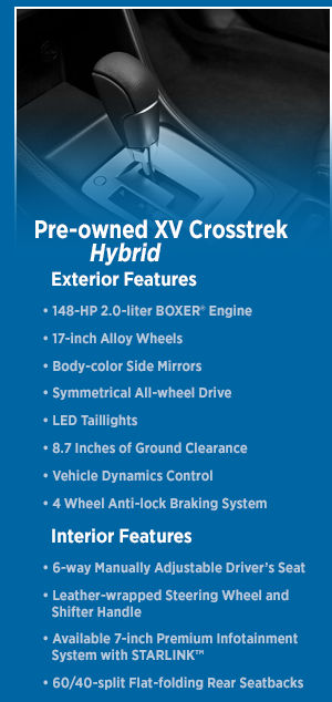 2015 Subaru XV Crosstrek Hybrid Features