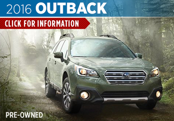 Click For Pre-Owned 2016 Subaru Outback Model in San Bernardino, CA
