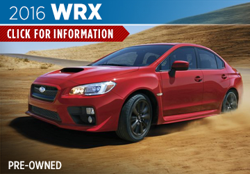 Click For Pre-Owned 2016 Subaru WRX Model in San Bernardino, CA