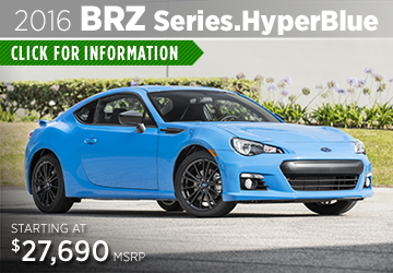 Click to View The New 2016 Subaru BRZ series Blue Model in  Thornton, CO