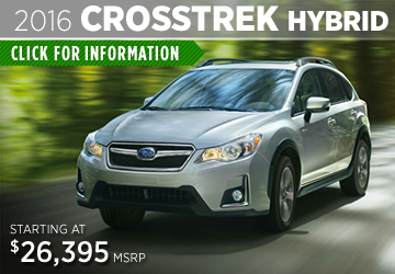 Click to View The New 2016 Subaru Crosstrek Hybrid Model in  Thornton, CO