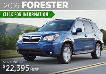 Click For 2016 Subaru Forester Model Information in Thornton, CO