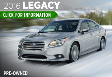 Click to View the Pre-Owned 2016 Subaru Legacy Details & Specifications