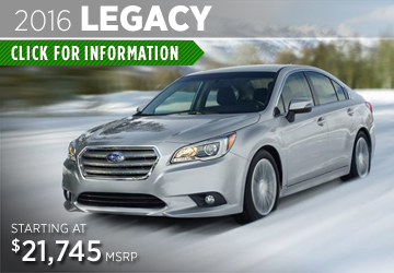Click to View the 2016 Subaru Legacy Details & Specifications