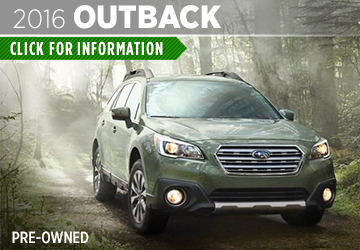 Click For Pre-Owned 2016 Subaru Outback Model Information in Thornton, CO