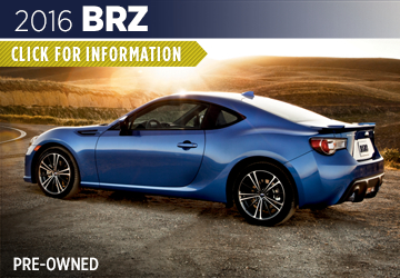 Click For 2016 Subaru BRZ Model Information in Shingle Springs, CA
