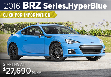 Click to Research The New 2016 Subaru BRZ Series.HyperBlue Model Serving Sacramento, CA