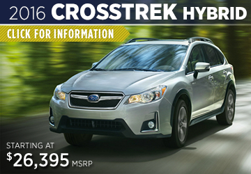 Click to Research The New 2016 Subaru Crosstrek Hybrid Model Serving Sacramento, CA