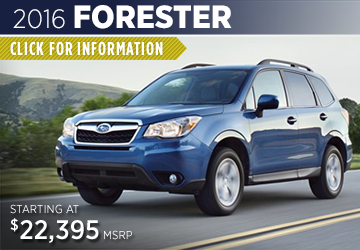 Click For 2016 Subaru Forester Model Information in Shingle Springs, CA