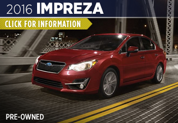 Click For 2016 Subaru Impreza Model Information in Shingle Springs, CA