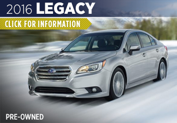 Click For 2016 Subaru Legacy Model Information in Shingle Springs, CA
