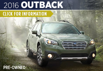 Click For 2016 Subaru Outback Model Information in Shingle Springs, CA