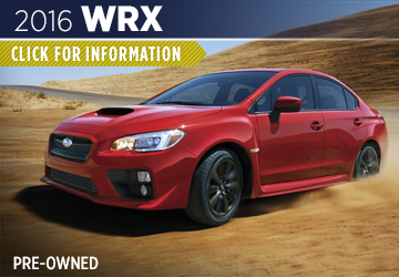 Click For 2016 Subaru WRX Model Information in Shingle Springs, CA