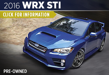 Click For 2016 Subaru WRX STI Model Information in Shingle Springs, CA