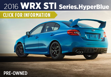 Click to Research The 2016 Subaru WRX Series.HyperBlue Model Serving Sacramento, CA