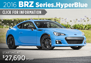 Click to View 2016 Subaru BRZ Series.HyperBlue Information