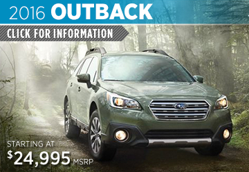 Click to View 2016 Subaru Outback Information