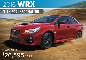 Click to View 2016 Subaru WRX Information