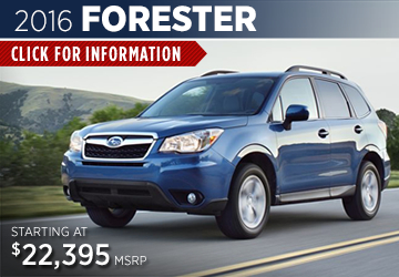 Click For 2016 Subaru Forester Model Information Serving San Francisco, CA