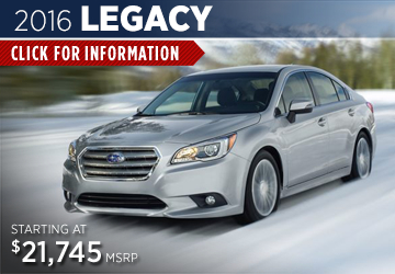 Click to View The 2016 Subaru Legacy Model in Redwood City, CA