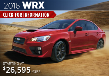 Click For 2016 Subaru WRX Model Information Serving San Francisco, CA
