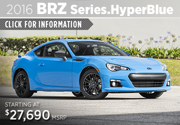 Click to View Our 2016 Subaru BRZ  Series.HyperBlue Model Information in San Diego, CA