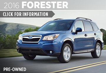 Click to View 2016 Subaru Forester Model Information