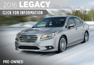 Click to View 2016 Subaru Legacy Model Information