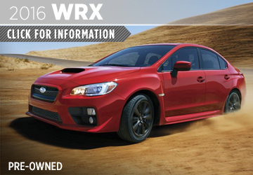 Click  For 2016 Subaru WRX Details in San Diego, CA