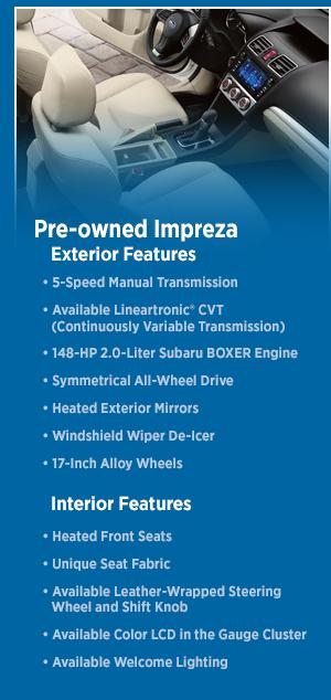 El Cajon Subaru >> New 2016 Subaru CPO Impreza Model Features | San Diego, CA